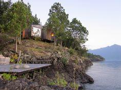 Gestalten - Sauna by Panorama. Los Ríos, Chile #lakeliving #hideandseek