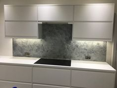 Venetian Marble with a metallic pitted finish in grey. A timeless effort for a kitchen splash back. Splash back, Venetian Marble Polished Plaster, Home Decor, Kitchen