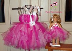 Halter tutu dress for girl and AG doll