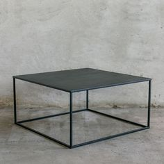 SIMPLEX Couchtisch II 90 x 90 Metall Schwarz Industrial / Coffee table metal black | NOTORIA Decor Interior Design, Interior Decorating, Boconcept, Industrial Farmhouse, Home And Living, Diy And Crafts, New Homes, Furniture, Home Decor