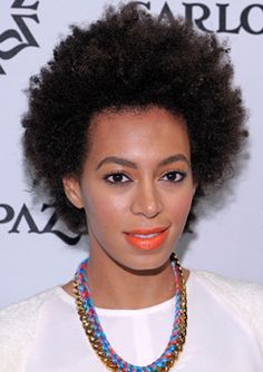 """I PREFER the """"I just rolled out of bed and fluffed"""" look that she has in this picture! Our texture is similar! --> Solange Knowles Shares her Natural Hair Secrets! 