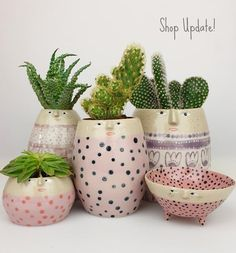"""Sandra Apperloo on Instagram: """"Lots of pink, purple, flowers and polkadots in today's shop update! I have just posted previews of the complete collection in my Instagram…"""" Polka Dots, Pottery, Purple Flowers, Pink Purple, Ceramics, Photo And Video, Handmade, Nifty, Glaze"""