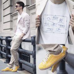 A.P.C. T Shirt, Marc By Jacobs Blazer, Zara Chinos, Zara Sneakers - Knot My Style - Marcel Floruss
