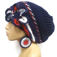New England Patriots Colors Slouch hat/Slouchy ♡ by ScarFanatic