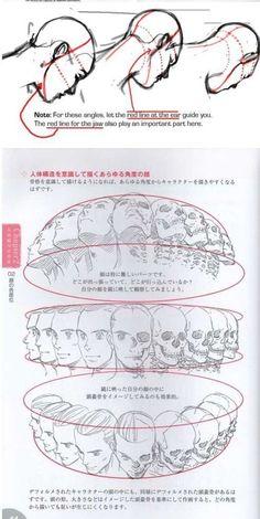 】人体头部各个角度的都是的表现和研究