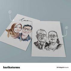 "Haloo halooo  Produk kami yg nomer 1 namanya ""digital watercolor"" dan ini best seller bgt looo  Kalo yg nomer 2 namanya rough sketch hitam putih..ini klasik bgt buat yg suka oldskull Yuk pesen untuk kado temen ato keluarga kaliaan..cuzzz #karikaturmu #jasakarikatur #jasaillustrasi #jasailustrasi #jasakarikaturonline #karikatur #karikaturdigital #art #design #olshop #instamood #digitalpainting #sweetgift #gift #kado #kadounik #today #photo #kreatif #creative #indonesia #surabaya #semarang…"
