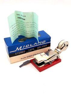 Stereo Tape Splicer Midland Model 14-577 Original Box Vintage  #Midland Scotch Tape, Electronics, The Originals, Box, Model, Prints, Vintage, Snare Drum