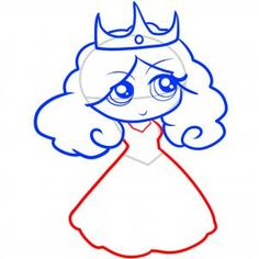 How to Draw a Princess for Kids, Step by Step, People For Kids ...