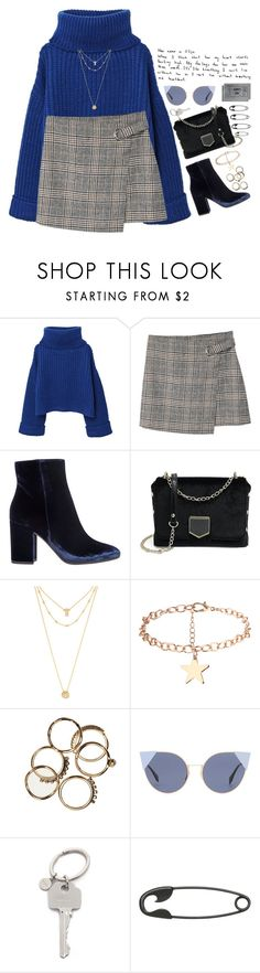 """""""Blue theme is on!"""" by ootdreport ❤ liked on Polyvore featuring MANGO, Gianvito Rossi, BaubleBar, Fendi, Paul Smith, Other and H&M"""