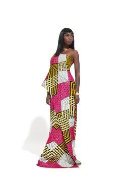ASYMMETRIC GALA DRESS | Vlisco V-Inspired
