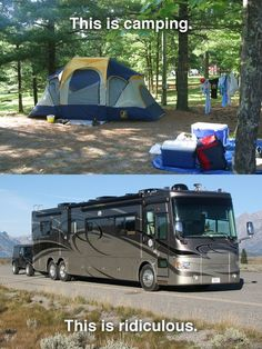 RVing is not camping!