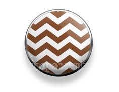 Pick your favorite color | Snap Jewelry Chevron Accent Interchangeable Button - Brown