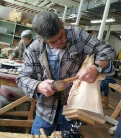 Our carver Joe T chipping away on Malinda. #berkshirecarousel