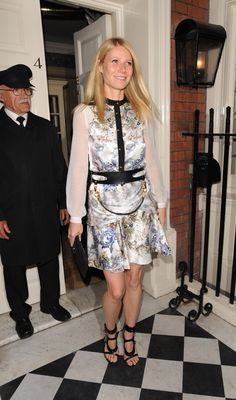 Cutout Tom Ford sandals gave her femme floral Prabal Gurung creation an edgy touch in September 2013.