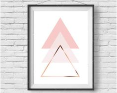 Abstract Geometric Print Abstract Wall Art by PrintAvenue on Etsy
