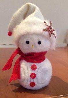 Handmade sock snowman