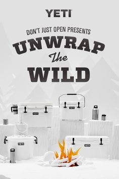 Don't just open presents come Christmas morning — unwrap the wild. See our favorite coolers, drinking vessels, gear, & more. Christmas Gift Guide, Holiday Gifts, Christmas Gifts, Creative Gifts, Great Gifts, Yeti Cooler, Pomes, Camping, Christmas Morning