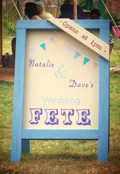 Personalised Fete Sign