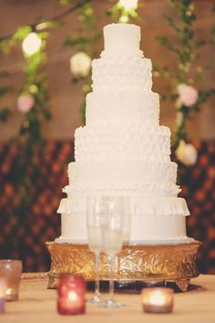 All white wedding cake. Wedding by Southern Event Planners. Photo by Natasha Durham Photography Event Planners, Cake Wedding, Dessert Tables, Durham, Vanilla Cake, Southern, Celebrities, Party, Desserts