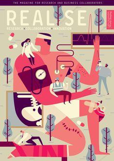 Realise-Patient-Doctor-Builder-Politician-Surgeon-Realise-Magazine-Cover-Illustration-Owen-Davey — Designspiration