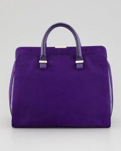 Victoria Soft Double-Handle Handbag, Purple by Victoria Beckham at Bergdorf Goodman.