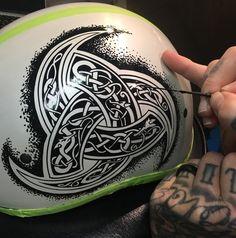 Motorcycle Helmet Art by Mckeagart