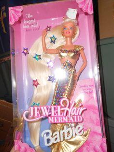 Jewel Hair Mermaid Barbie Longest Hair Ever Amazing Doll 1990'S 074299145865 | eBay