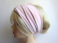 Haarbänder - Hellrosa - Haarband Haarbänder extra breit - ein Designerstück von Vintage_Kleidung_und_Kostueme bei DaWanda