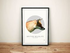 British Wildlife - Red Fox Illustration | Pretty Limits - Limited Edition Prints for the Home