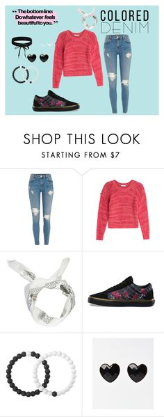 """""""Colored Denim"""" by puppylover2006-izzyboo ❤ liked on Polyvore featuring IRO, Boohoo, Vans and Lokai"""