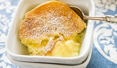 Lemon Pudding Cake. Every spoonful delivers a light, creamy custard.
