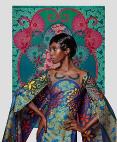 Sonja Wanda. Vlisco. African Fabric Fashion.