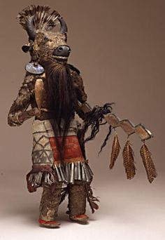Buffalo Kachina Doll, Zuni Culture. ca. 1875  the most powerful among all kachina dolls, who protects and can rid the bad of evil thoughts.
