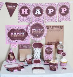 Cowgirl party printables