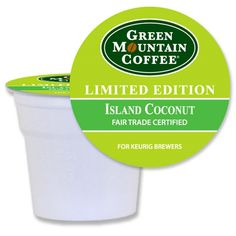 Green Mountain Fair Trade Island Coconut Keurig K-Cups For Sale at CapeJava.coms