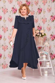 Plus Size Dresses has never been so Modest! Since the beginning of the year many girls were looking for our Cute guide and it is finally got released. Now It Is Time To Take Action! Big Size Fashion, Plus Size Fashion For Women, Girl Fashion, Fashion Dresses, Mother Of The Bride Fashion, Apple Shape Fashion, Catwalk Design, Mom Dress, Plus Size Clothing