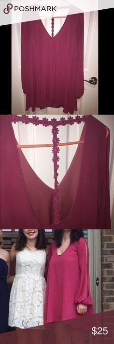 Selling this Long Sleeve Flowy Magenta/soft dark pink Dress on Poshmark! My username is: bairose. #shopmycloset #poshmark #fashion #shopping #style #forsale #Cotton Candy #Dresses & Skirts