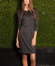 Look at this #zulilyfind! Black & Gray Bryant Dress by emploi New York #zulilyfinds