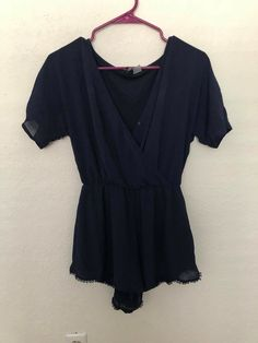 46f41bffbd94 Navy Blue Sheer Romper Size 8 H M Divided New Great Condition!  fashion   clothing