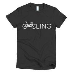 Shirtedon Women's Cycling logo T-shirt