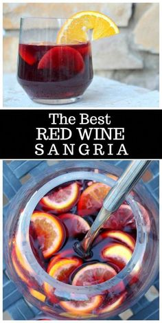 Craving for red wine sangrias? Here's the Best Red Wine Sangria recipe you can try today. Red Sangria Recipes, Berry Sangria, White Wine Sangria, Summer Sangria, Summer Drinks, Fun Drinks, Cocktail Recipes, Wine Recipes, Cooking Recipes