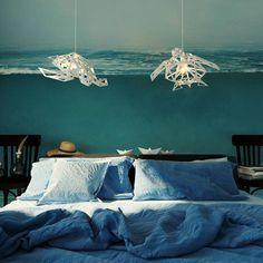 Ocean Bedroom Kids, Ocean Inspired Bedroom, Ocean Room, Beach Room, Ocean Bedroom Themes, Bedroom Decor, Bedroom Ideas, Blue Room Themes, Shark Bedroom
