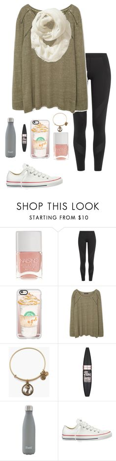 """""""Custom set / shoutout!"""" by eadurbala08 ❤ liked on Polyvore featuring Nails Inc., adidas, Casetify, Violeta by Mango, Alex and Ani, Maybelline, S'well, Converse and Old Navy"""