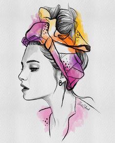 My latest illustration  summer vibes - hope you like her  #lindascreative #fashionillustration #beautyillustration #illustration #digital #digitalart #charcoal #ink #watercolors