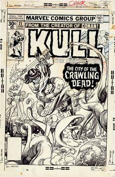 Original Comic Art:Covers, Gil Kane Kull the Destroyer #21 Cover Original Art (Marvel,1977).... Image #2
