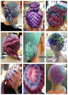 Braided Pastels. Strong and pretty.