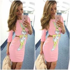 Summer Sexy Anime Rabbit Midriff Dress Women Pack Hip Hop Slim Natural Casual Style Kawaii Cute Pencil Dress Night Club Vestidos-in Dresses from Women's Clothing & Accessories on Aliexpress.com   Alibaba Group