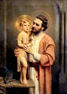 """Saint of the Day – 19 March – The Solemnity of St Joseph, Spouse of the Most Blessed Virgin Mary, Mother of God and Patron of the Universal Church. The name 'Joseph' means"""" whom the Lord adds"""". Catholic Art, Catholic Saints, Religious Art, St Joseph Catholic, Religious Images, Holy Family, Blessed Mother, Sacred Art, Art Prints"""