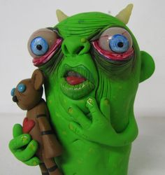 Hey, I found this really awesome Etsy listing at https://www.etsy.com/listing/219274293/lowbrow-one-of-a-kind-clay-ooak-monster