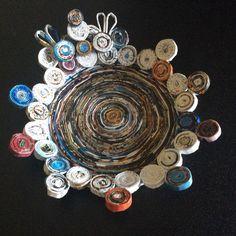 Vassoio realizzato con cannucce di carta